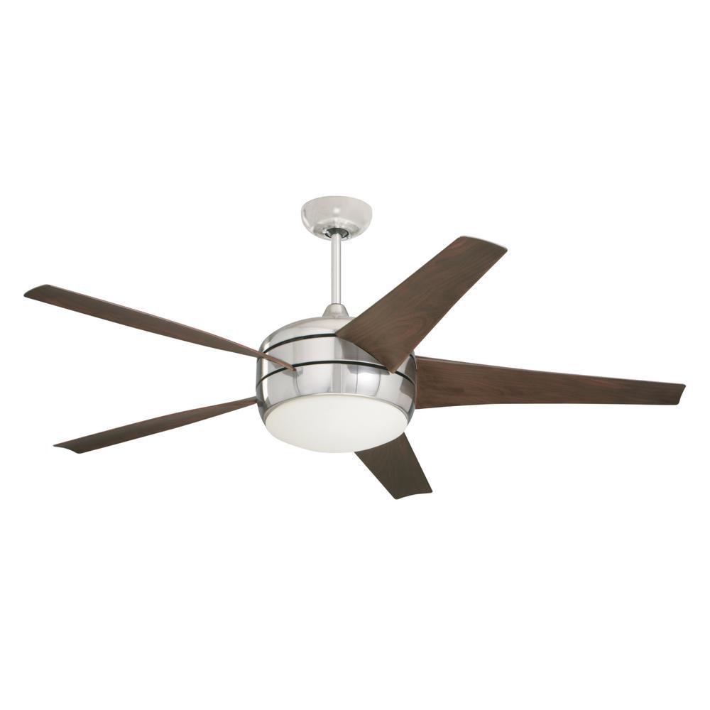 Monte Carlo Butterfly 54 In Brushed Steel Ceiling Fan
