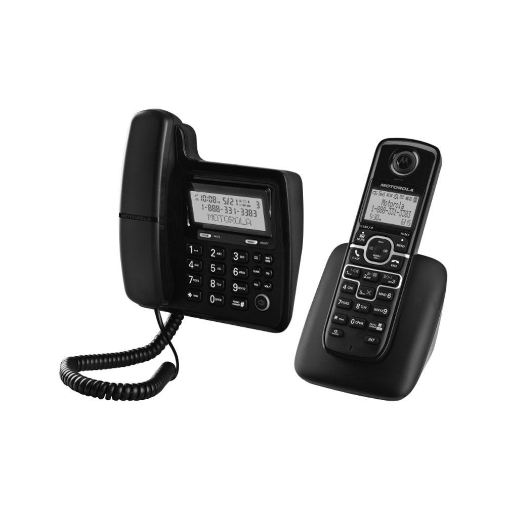 Motorola DECT 6.0 Digital Cordless and Corded Phone and 3 Handsets with Answering System