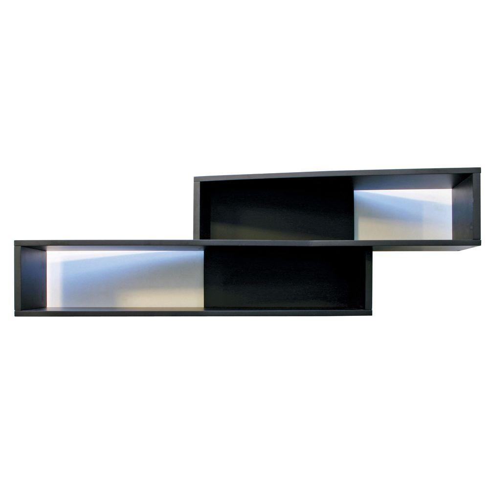 Az Home And Gifts Nexxt Luca 38 In L Mdf Angled Wall Shelf In Black