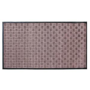 A1HC Rub-Poly Multi Utility Brown Indoor/Outdoor 36 inch x 60 inch Scraper Door Mat by