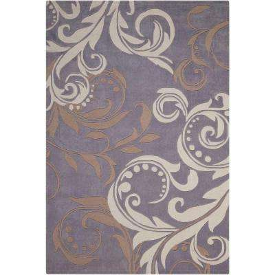 Contour Silver 7 ft. 3 in. x 9 ft. 3 in. Area Rug