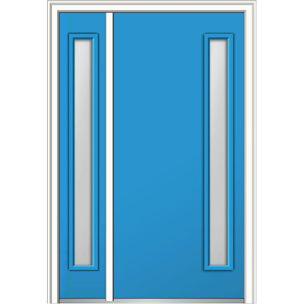 Mmi door 48 in x 80 in viola frosted glass left hand 1 for Home depot frosted glass door