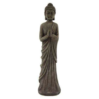 32.25 in. Resin Buddha Figurine in Gray