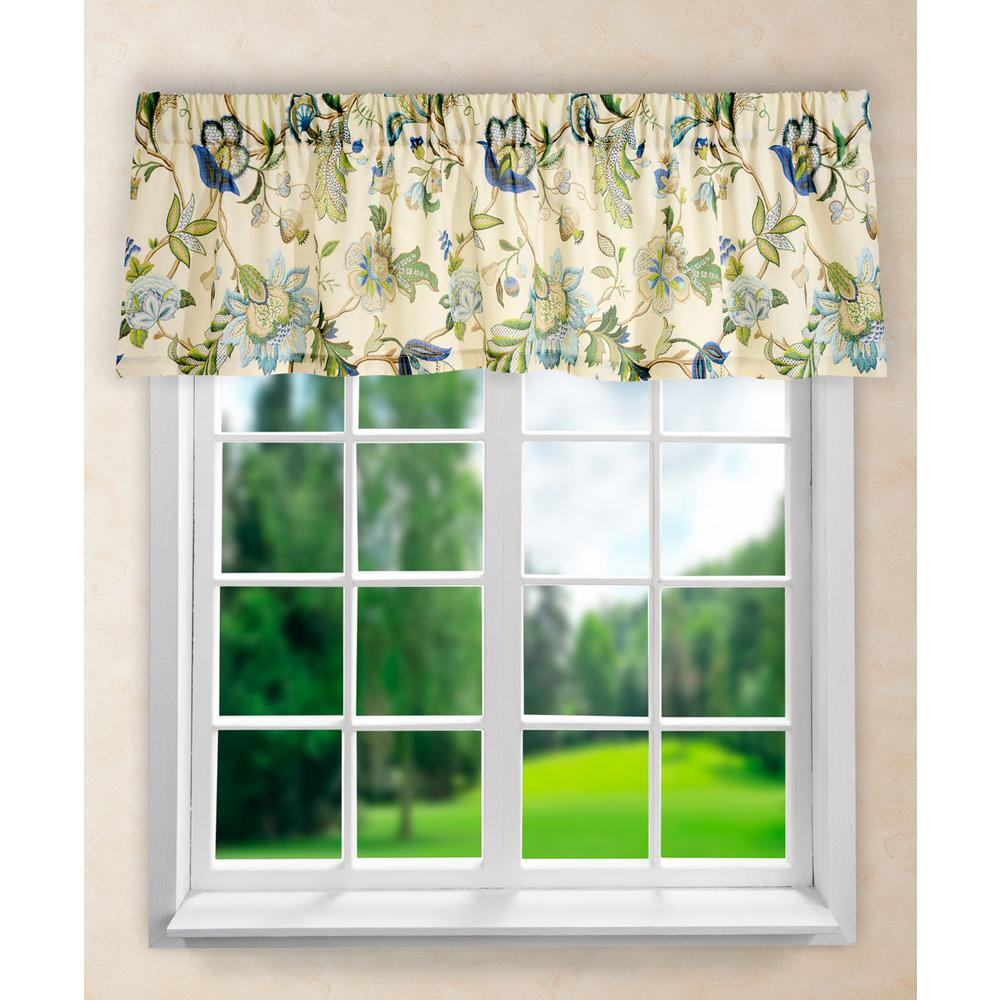 Brissac 15 in. L Polyester Tailored Valance in Blue