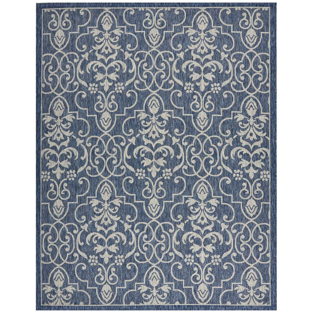 nourison country side denim 10 ft x 13 ft indoor outdoor area rug