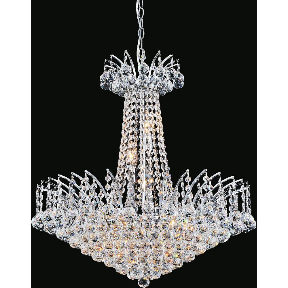 CWI Lighting Posh 11-light chrome chandelier