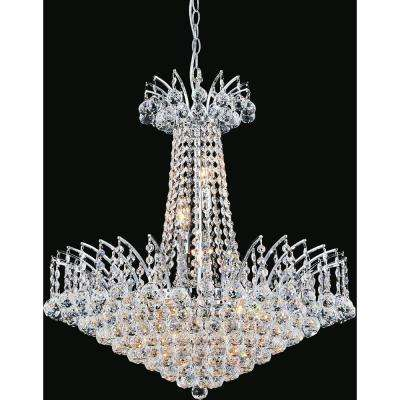 Posh 11-light chrome chandelier