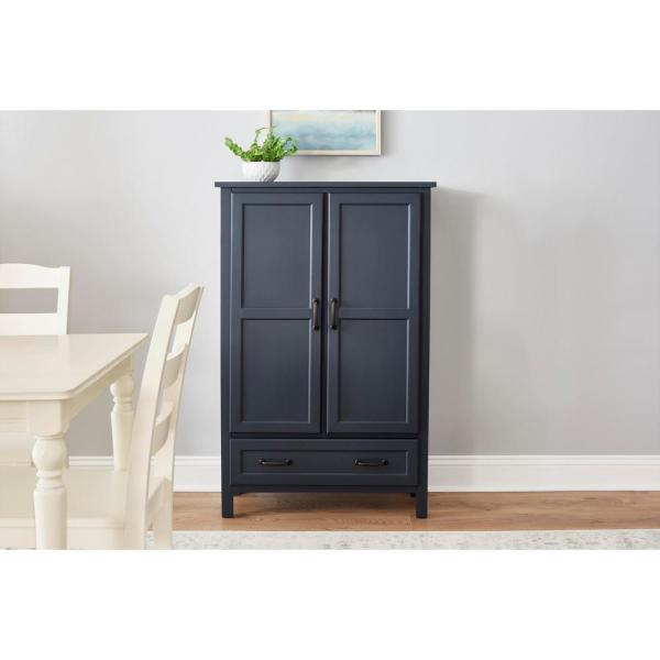 Stylewell Stylewell Midnight Blue Wood Kitchen Pantry 30 In W X 47 In H Sk19304c1r1 M The Home Depot