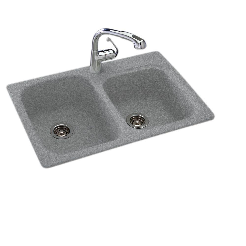 SWAN Drop In/Undermount Solid Surface 33 In. 1 Hole 55/