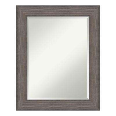 Country Barn Wood Wood 24 in. x 30 in. Distressed Bathroom Vanity Mirror