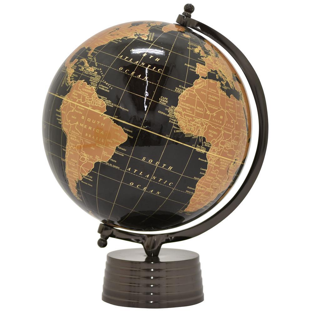 18.5 in. x 12 in. Nickel Black Base Globe