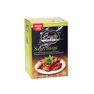 Premium Sage and Maple Bisquettes (Box of 48)