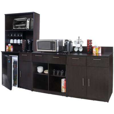 Coffee Kitchen Espresso Sideboard with Lunch Break Room Functionality with Assembled Commercial Grade 3397
