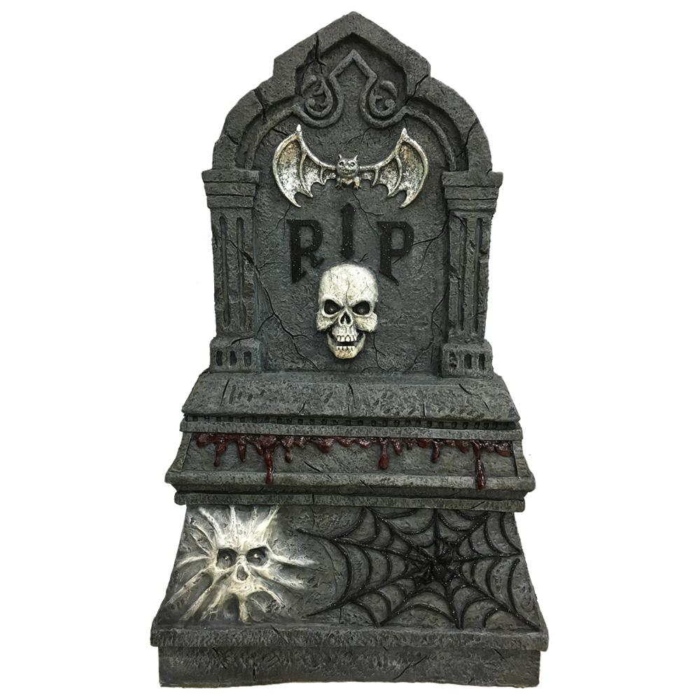 36 in. H Halloween LED Screaming Tombstone