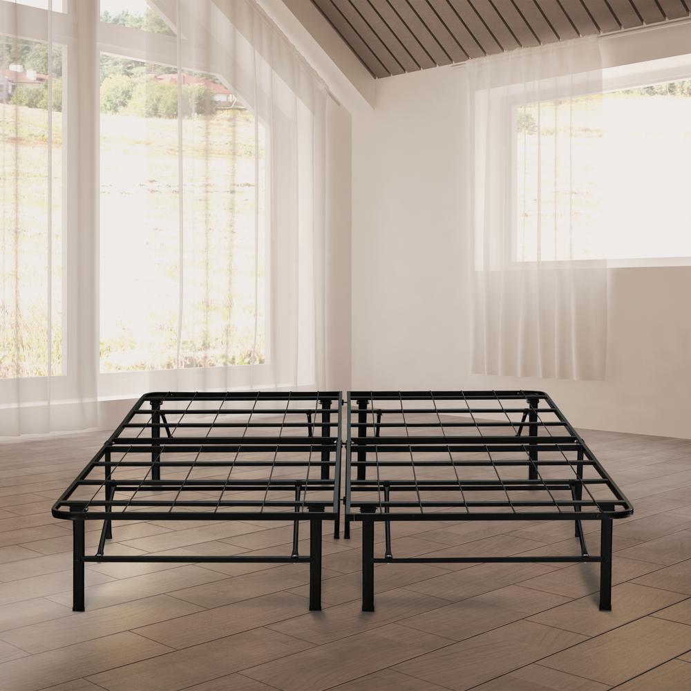 Rest Rite 14 in. King Metal Platform Bed Frame-MFP00112BBEK - The ...