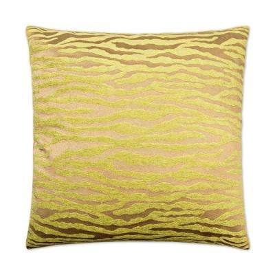 Bengalla Green Feather Down 24 in. x 24 in. Standard Decorative Throw Pillow