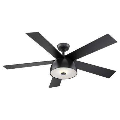 Lestat 52 in. LED Integrated Light 4 Blade Ceiling Fan Matte Black with Remote