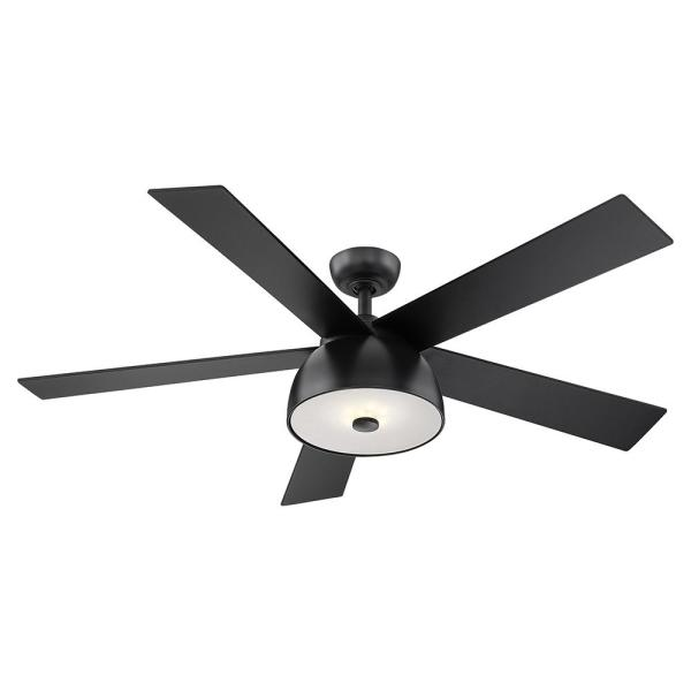 Lestat 52 in. LED Integrated Matte Black Light 4 Blade Ceiling Fan with Remote