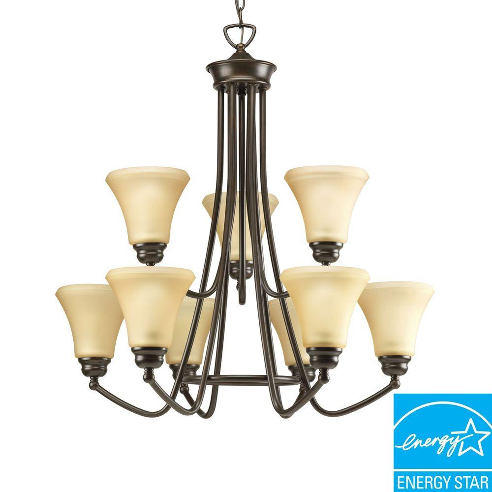Progress Lighting Janos Collection Antique Bronze 9-light Chandelier-DISCONTINUED