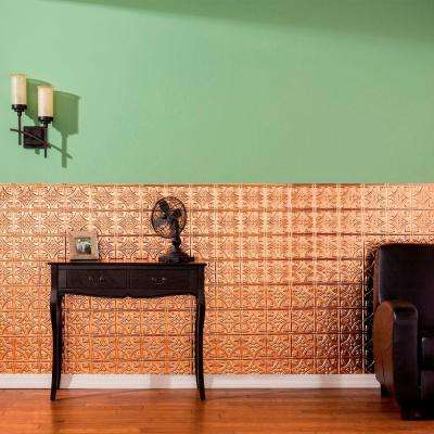 96 in. x 48 in. Traditional 1 Decorative Wall Panel in Polished Copper