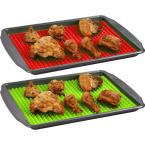 Southern Homewares Healthy Homewares Red Green Silicone Baking Sheet (2-Pack)