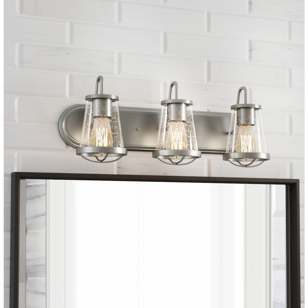 Georgina 3-Light Brushed Nickel Vanity Light
