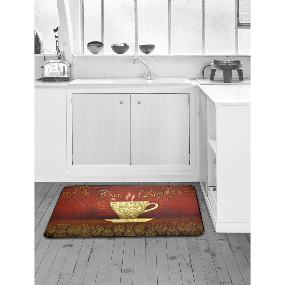 Designer Chef Cafe Au Lait 24 in. x 36 in. Anti-Fatigue Kitchen Mat