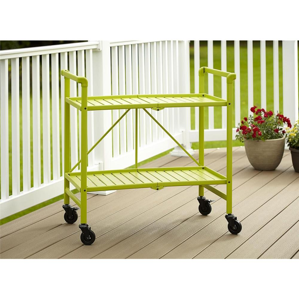 Smartfold Apple Green Serving Cart