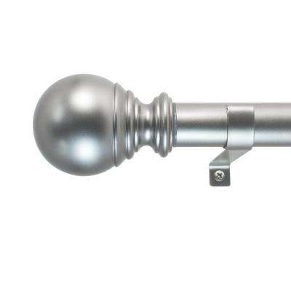 72 in. - 144 in. Ball Telescoping 1 in. Dia Rod Set in Silver