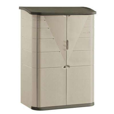 4 ft. 7 in. x 2 ft. 7 in. Large Vertical Resin Storage Shed