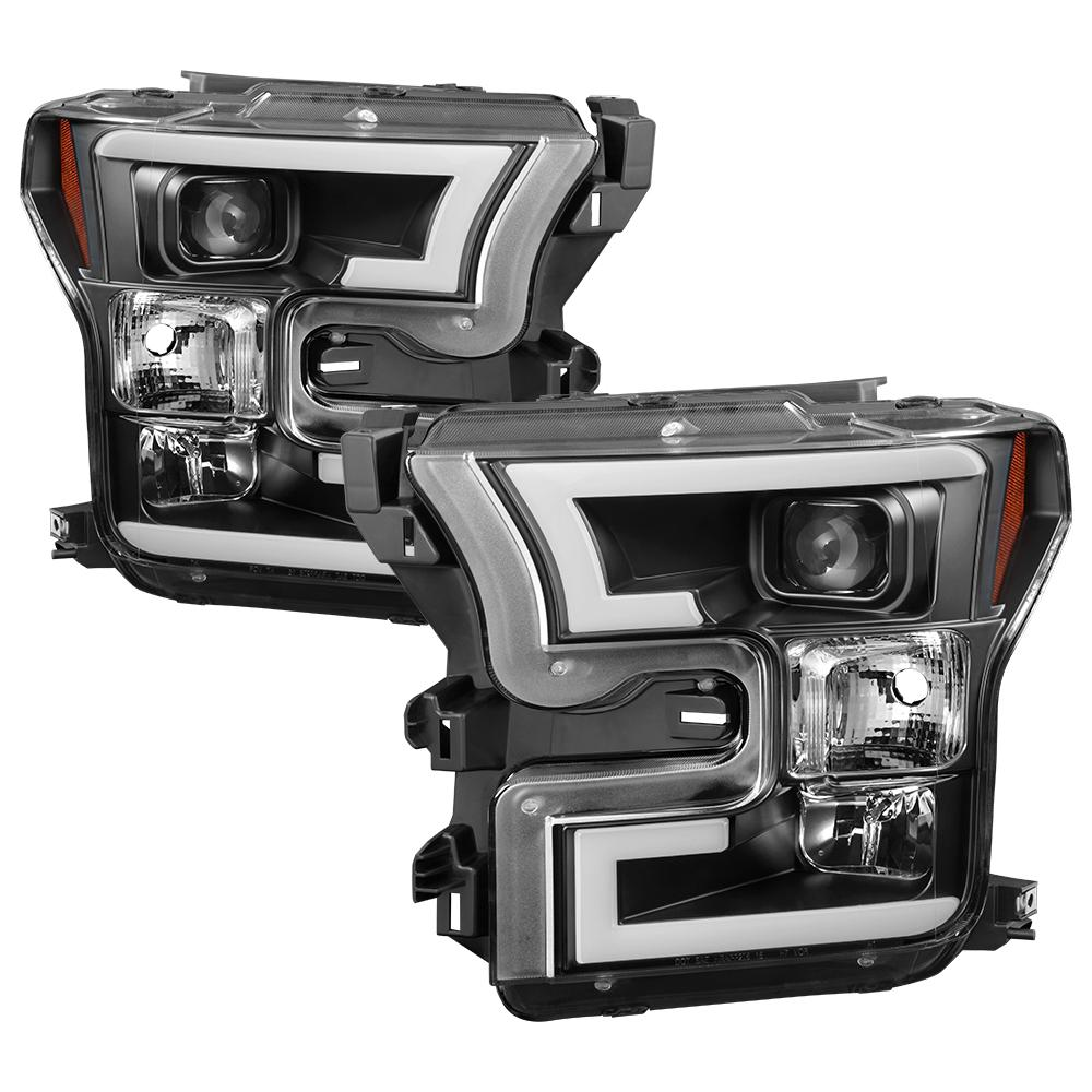 Spyder Auto Ford F150 2017 Projector Headlights High H1 Included