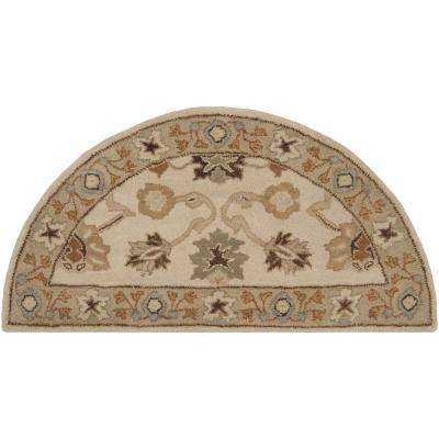 Cicero Ivory 2 ft. x 4 ft. Hearth Indoor Area Rug