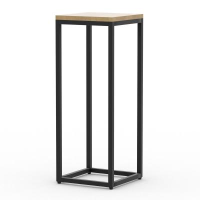 Emery 31 in. Oak Finish Plant Stand