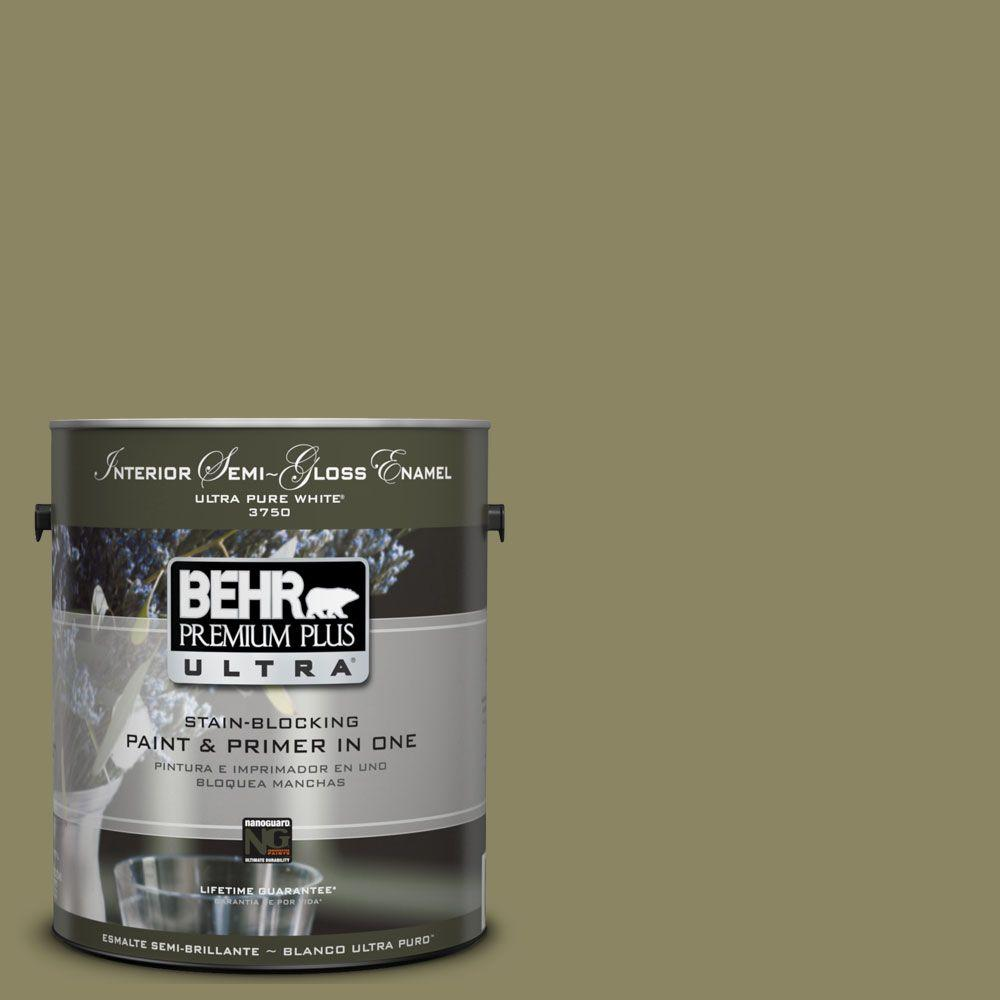 BEHR Premium Plus Ultra 1-gal. #UL200-19 Oregano Spice Interior Semi-Gloss Enamel Paint