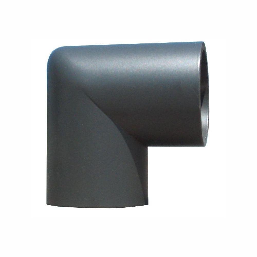 EZ Handrail 1.9 in. Aluminum Round ADA Handrail Bronze 90 Degree Miter Elbow