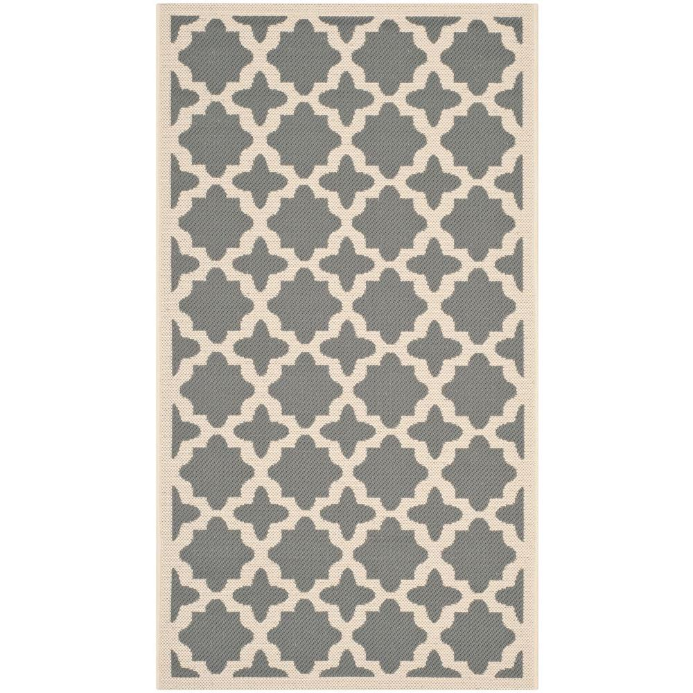 Safavieh Courtyard Anthracite/Beige 2 ft. x 3 ft. 7 in. Indoor/Outdoor Area Rug