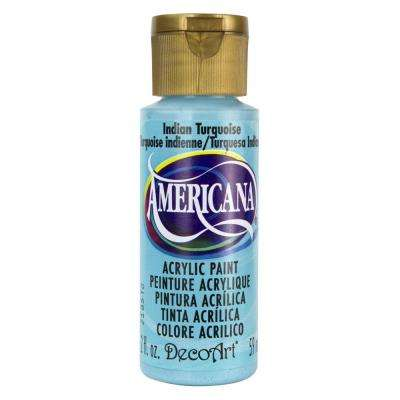Americana 2 oz. Indian Turquoise Acrylic Paint
