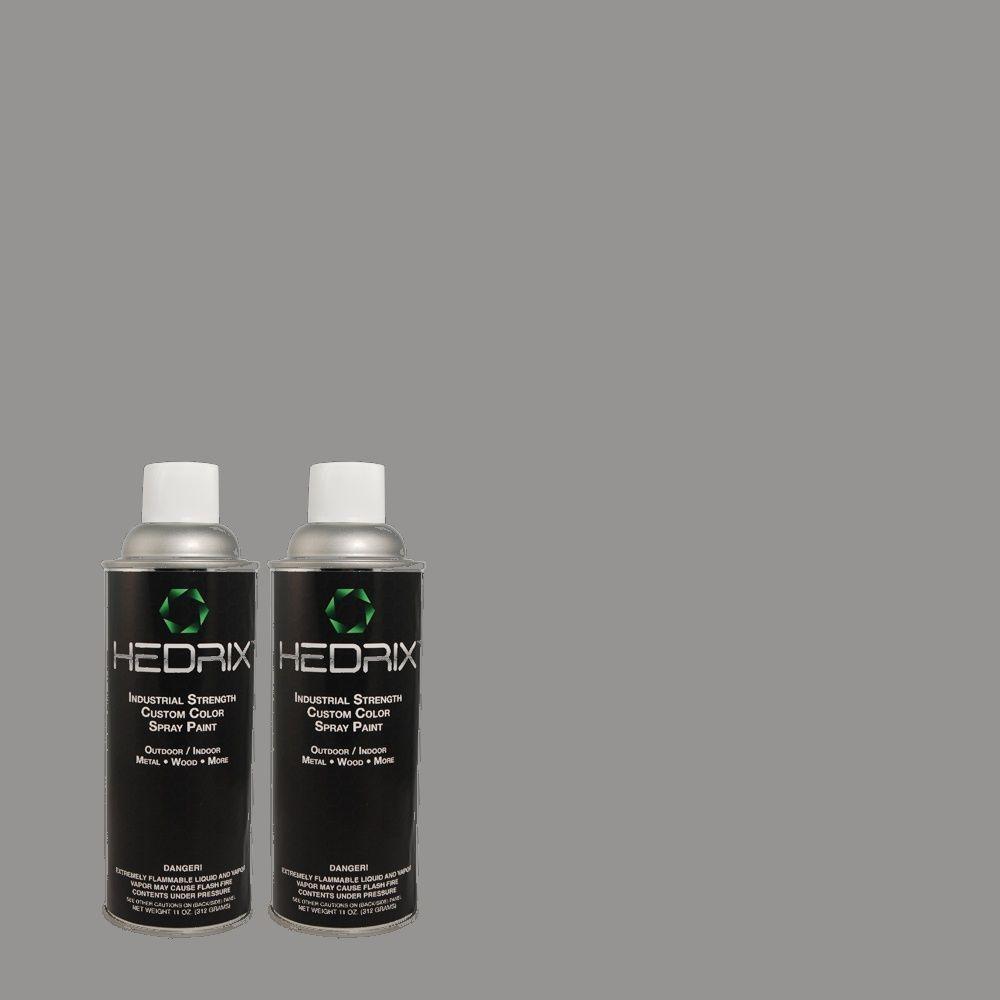 Hedrix 11 oz. Match of MQ5-20 Cold Steel Semi-Gloss Custom Spray Paint (2-Pack)