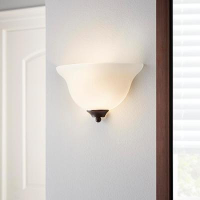 1-Light Oil Rubbed Bronze Wall Sconce (2-Pack)