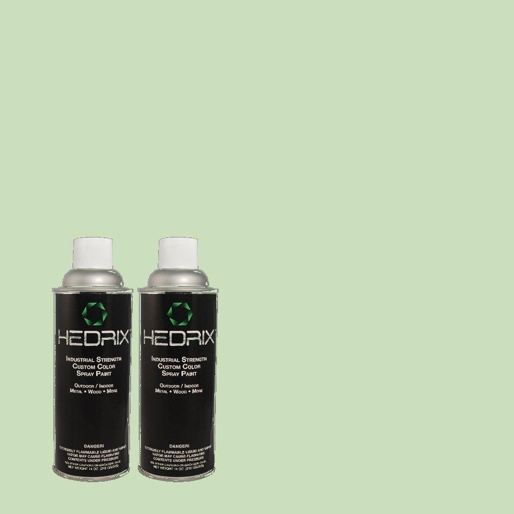 Hedrix 11 oz. Match of 1A53-3 Watercress Semi-Gloss Custom Spray Paint (2-Pack)