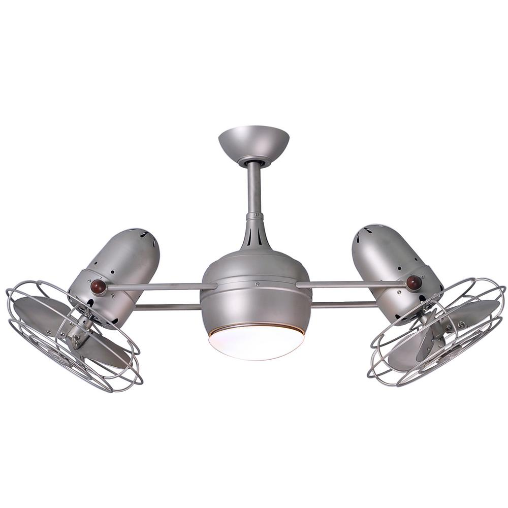 Dagny 40 in. LED Indoor/Outdoor Damp Brushed Nickel Ceiling Fan with