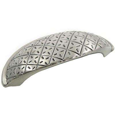 2 in. Satin Nickel Antique Pillow Cup Pull