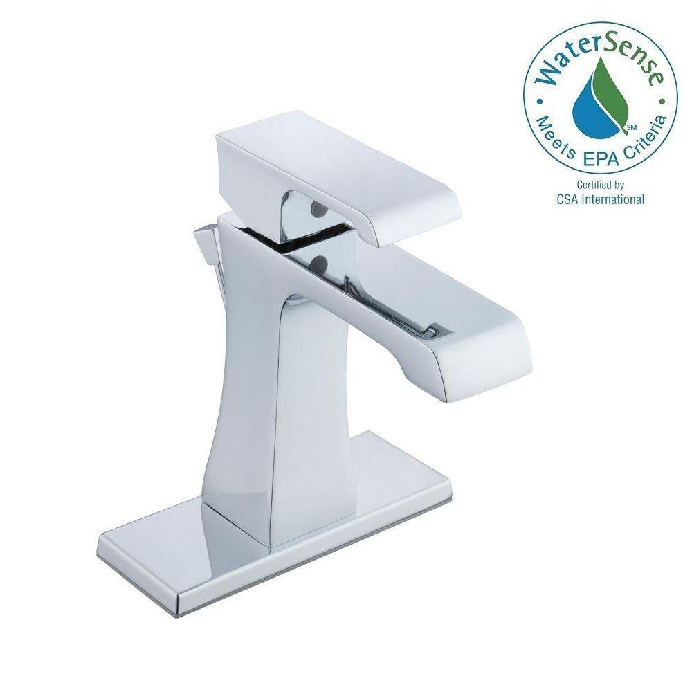 Glacier Bay 10000 Series 4 in. Centerset Single-Handle High Arc Bathroom Faucet in Chrome