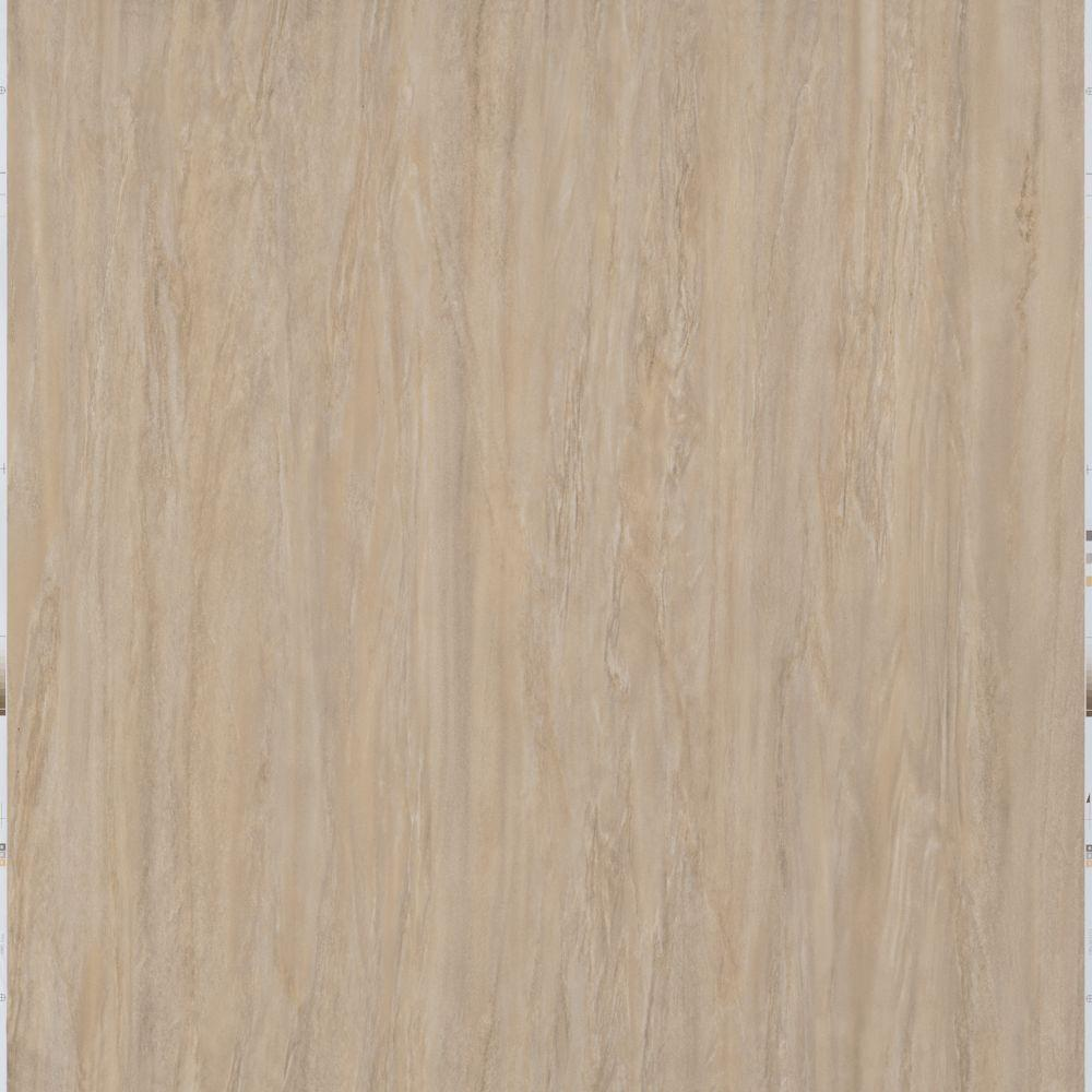 Trafficmaster Light Brown 12 In X 24 L And Stick Travertine Vinyl Tile