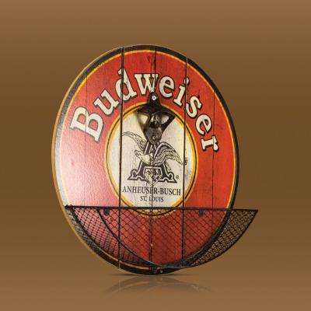 Budweiser Beer Bottle Opener Cap Catcher Decor