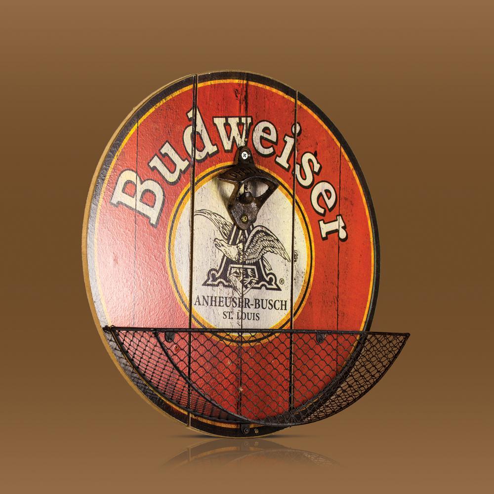 Crystal Art Gallery Budweiser Beer Bottle Opener Cap Catcher Decor 144942