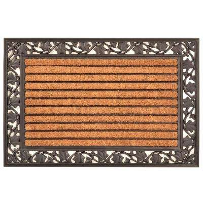 Outdoor Ivy Leaf 2 ft. x 3 ft. Coir and Rubber Door Mat