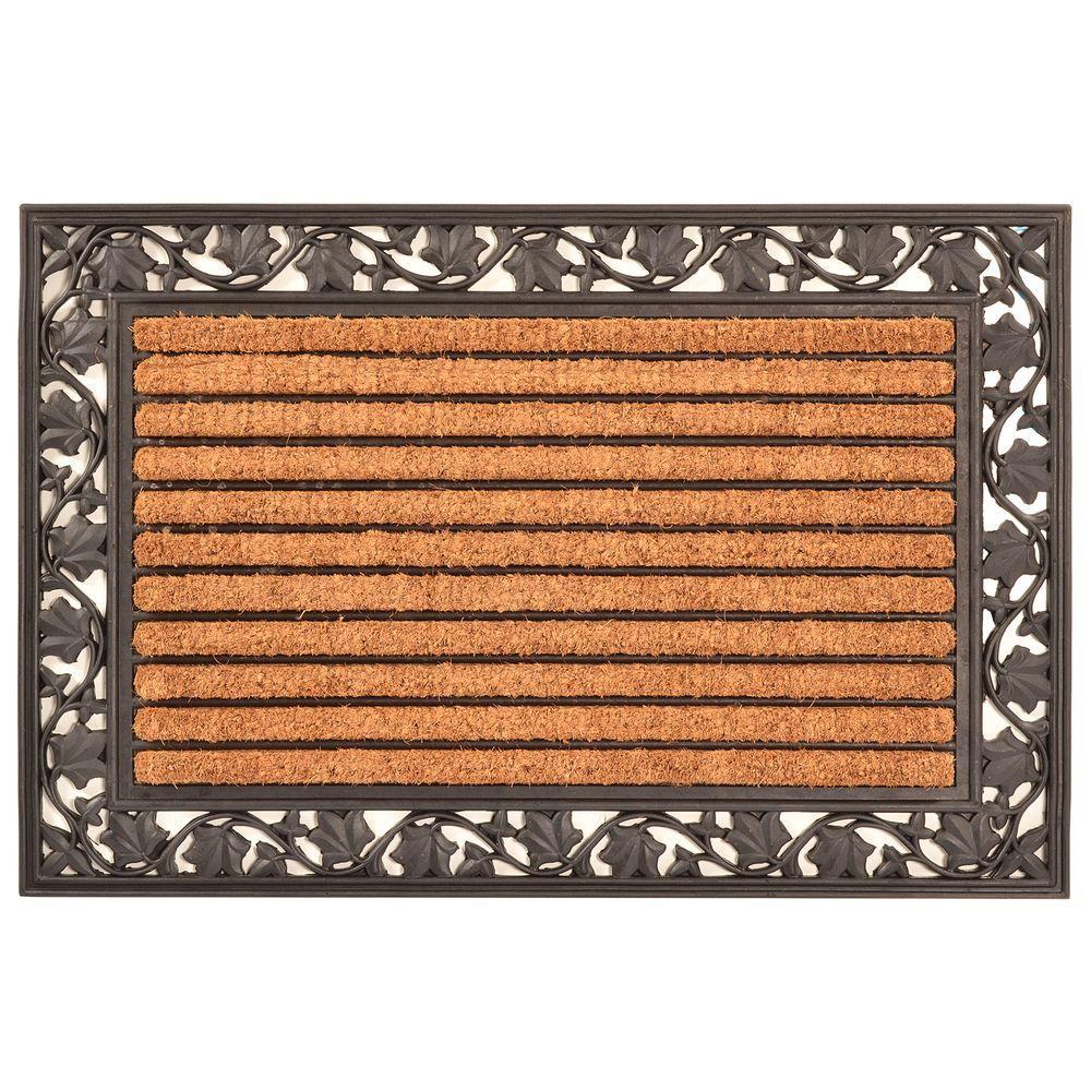 Outdoor Ivy Leaf 2 Ft X 3 Coir And Rubber Door Mat