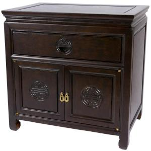 Bedside Brown End Table by
