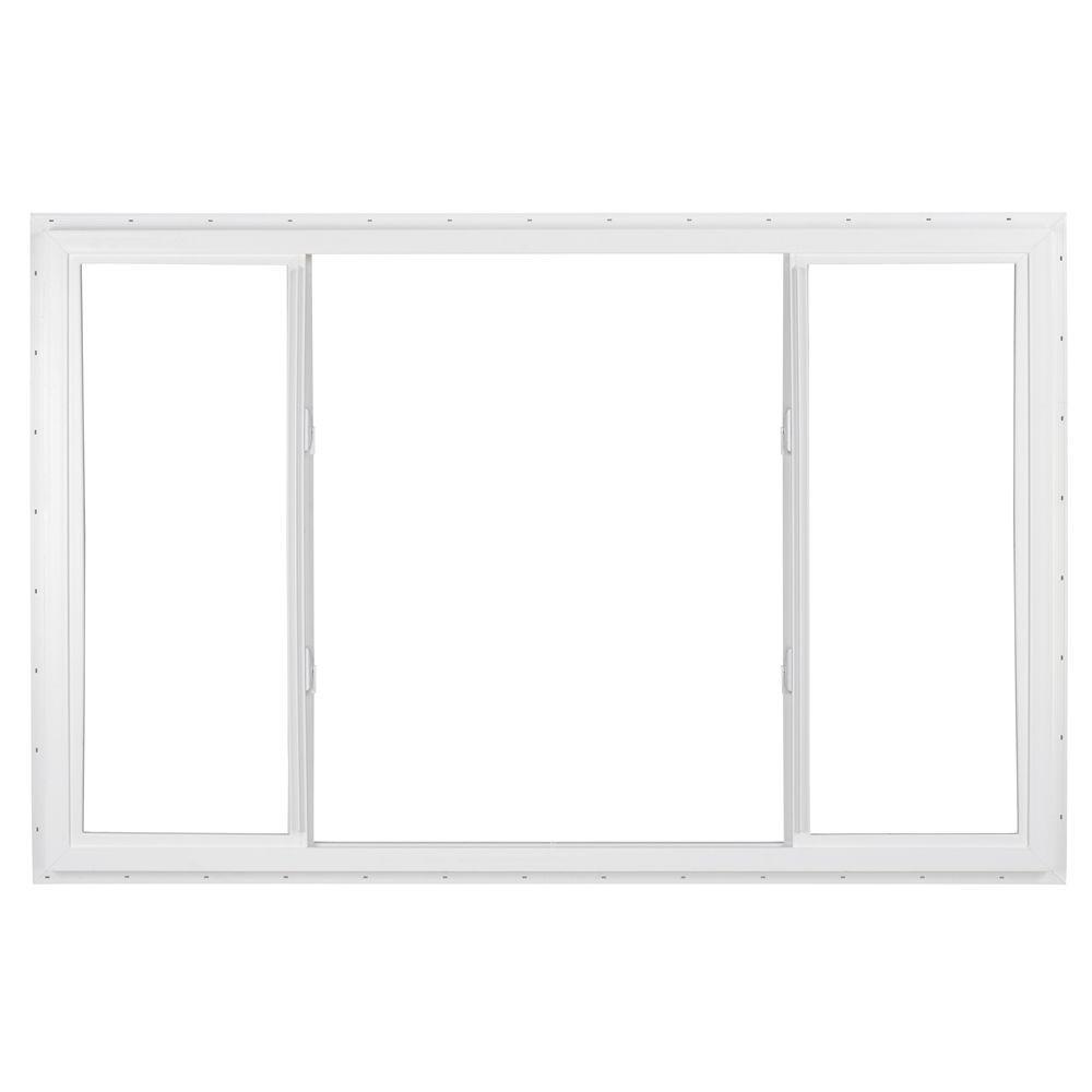 SIMONTON 96 in. x 48 in. DaylightMax Universal-Hand End Vent Sliding Vinyl Window - White